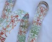 D Ring Belt,womens belt,  soft summer colors, s/m, ready to ship