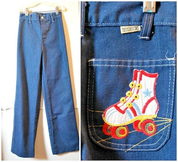 Vintage Toughskin Roller Skate Jeans 8 Slim Kids