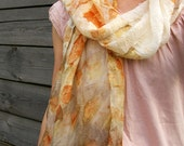 RESERVED Silk scarf hand painted