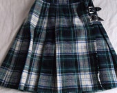 SALE How Cute is this Wrap Buckle Skirt in Blue and Green Plaid