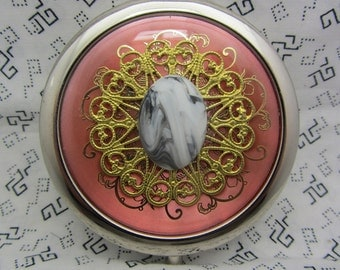 Compact Mirror Angelic Comes With Protective  Pouch