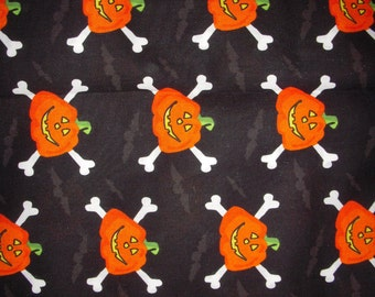 Jack-o-Lanterns with Bones Fabric