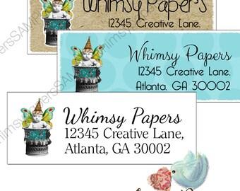 Fairy Baby Return Address Labels - Glossy