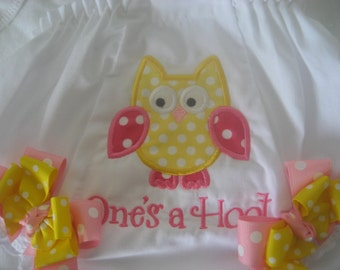 Boutique Owl monogrammed bloomer
