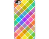 On Sale! Ginham Type Pattern with Black or White Sides iPhone Case - IPhone  4, 4S, 5, 5S, 5C Hard Cover - FunUnique Trendy - artstudio54