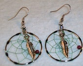 30MM Dream Catcher Earrings Clip On or Pierced You Choose Native American Made