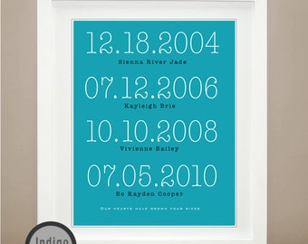 Custom Special Dates Print, Anniversary Present, Dates to Remember, Special Dates Art personalized Wedding Gift For him or her