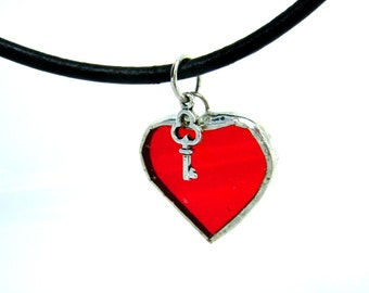 Key Jewelry Hearts Valentine Goth Yule Christmas Pagan Wiccan Mothers Day Pendant Graduation Easter Ostara Wedding Birthday OOAK