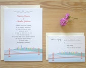 San Francisco Wedding Invitation & RSVP Card Package - Downtown from the Golden Gate