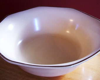 Homer Laughlin Yellowstone Serving Bowl With Gold Trim - ReDuCeD
