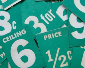 Vintage Price Tags DOZEN