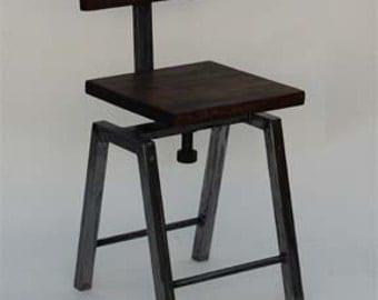 Industrial swivel stool