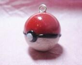 Custom Pokeball Charm-- YOU Choose Regular or Glow in the Dark Clay