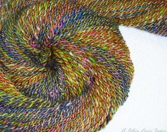 The Herbalist Handspun Art Yarn - 86 Yards - 2-ply - Knitting - Crochet - Weaving - Mixed Media - Fiber Arts, etc.