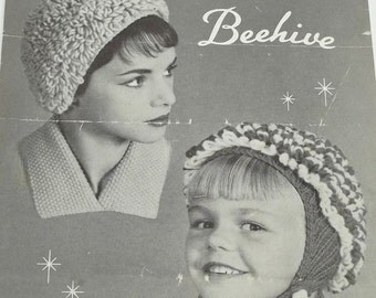 Vintage Mop-ettes by Beehive knitting pattern adult child
