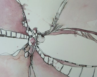 Original Abstract Dusty Rose