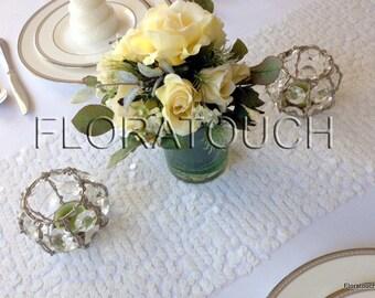 White Sequin Table Runner Wedding Table Runner