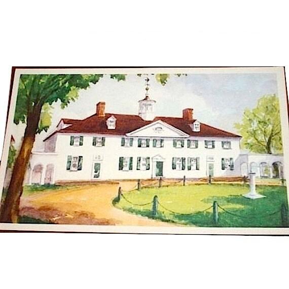 Mount Vernon Postcards 1930s  Set of 10 Cards  Washington's Home Virginia