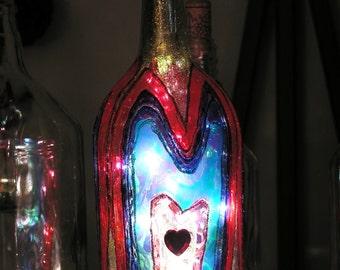 Heart Lighted Bottle