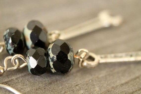 Oil and Wrench earrings - last pair