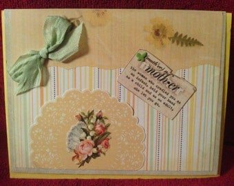 Yellow Vintage Look Mother's Day Card