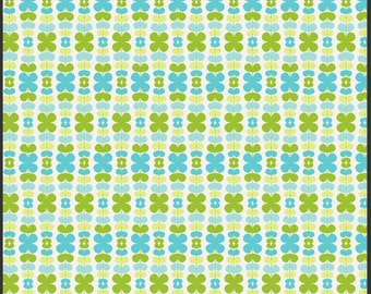 SUMMER SALE - Color Me Retro - Kitchenette in Honeydew - 1 Yard - by Jeni Baker for Art Gallery Fabric - sku CMR-2108