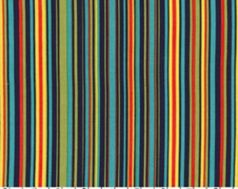 SUMMER SALE - Play Stripe in Navy - 1 Yard - by Michael Miller Fabrics - SKU Cx3137