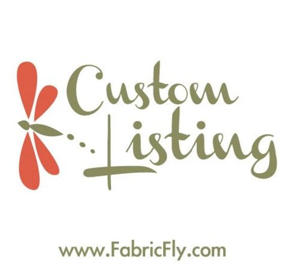 Custom Listing for CuddleUms - Les Amis Flannel
