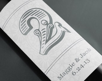 Table Number Wine Labels ...Choose your Colors...Floral Circus