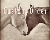 Horse Hug 30x30 Custom Order