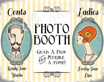 INSTANT DOWNLOAD. Printalbe PDF. Photo Booth Sign. Photo Booth Prop. Photobooth Prop. Photo Booth.Vintage Retr0