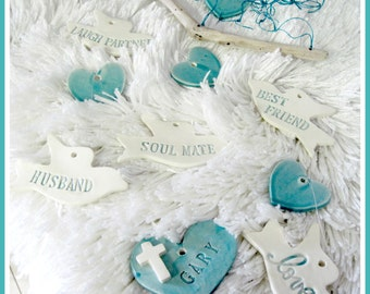 Hearts and Doves Memorial  Wind Chime Personalized