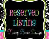 Reserved listing for Mary Lynn