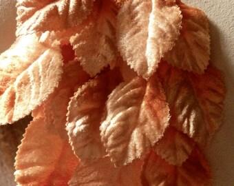 Orange Leaves Velvet for Bridal, Millinery, Costume Design, Crafts ML 102