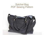 PDF Pattern. Sewing Pattern Satchel Bag.  Canvas or Cordoruy Messenger Bag. Briefcase. Sewing DIY.