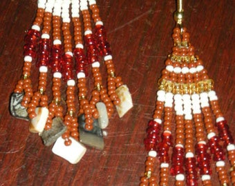 Ethnic Shells & Beads Earrings