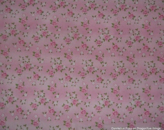 One Yard of Pretty Flowers on Pink