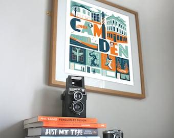 Camden London typographic print