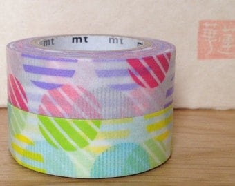 SALE - mt washi masking tape - arch - pink and green