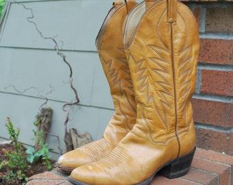 Vintage Cowboy Boots Panhandle Slim by Sanders