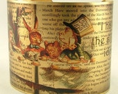 Alice In Wonderland Bracelet - A Mad Tea-Party - Literary Riddle Quote Brass Cuff