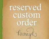 Reserved Custom order for finan