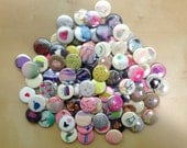 """Set of 5 hand painted 1"""" buttons"""