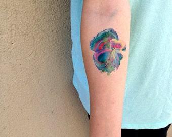 Paint Swirl Temporary Tattoo