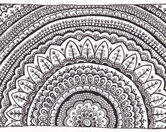 Pen and Ink Mandala Drawings