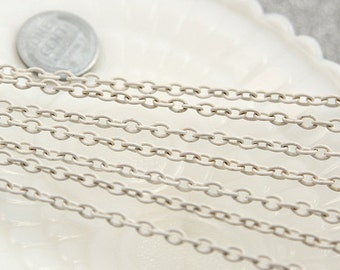 White Chain - 5mm White Enamel Chain - 10 feet / 3 meters
