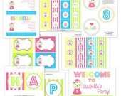 Bubble Gum Birthday Printable Party Collection by The TomKat Studio