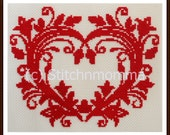 12012 Swirled Heart  Cross Stitch PDF Pattern - DIGITAL DOWNLOAD