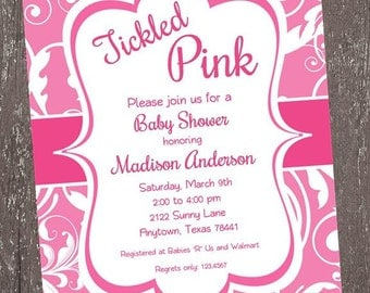 Tickled Pink Baby Shower Invitation - 1.00 each with envelope