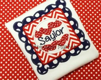 Machine Embroidery Design Applique Baseball Scallop Square Ric Rac INSTANT DOWNLOAD